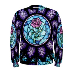 Cathedral Rosette Stained Glass Beauty And The Beast Men s Sweatshirt