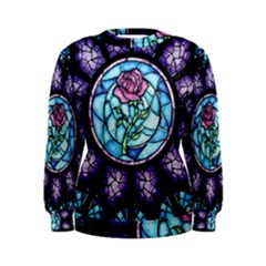 Cathedral Rosette Stained Glass Beauty And The Beast Women s Sweatshirt
