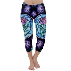 Cathedral Rosette Stained Glass Beauty And The Beast Capri Winter Leggings