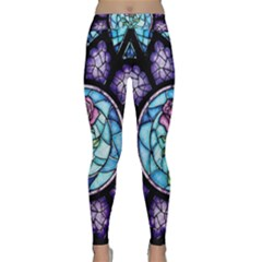 Cathedral Rosette Stained Glass Beauty And The Beast Classic Yoga Leggings