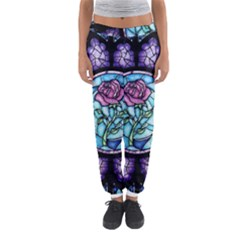 Cathedral Rosette Stained Glass Beauty And The Beast Women s Jogger Sweatpants