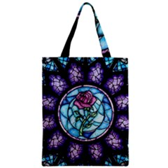 Cathedral Rosette Stained Glass Beauty And The Beast Zipper Classic Tote Bag