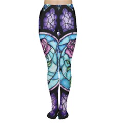 Cathedral Rosette Stained Glass Beauty And The Beast Women s Tights