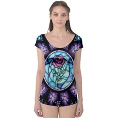 Cathedral Rosette Stained Glass Beauty And The Beast Boyleg Leotard