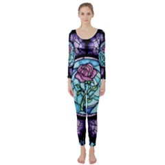 Cathedral Rosette Stained Glass Beauty And The Beast Long Sleeve Catsuit