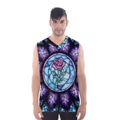 Cathedral Rosette Stained Glass Beauty And The Beast Men s Basketball Tank Top