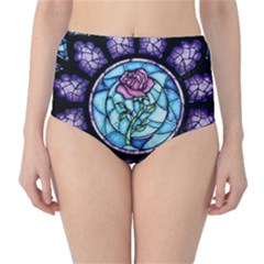 Cathedral Rosette Stained Glass Beauty And The Beast High-Waist Bikini Bottoms