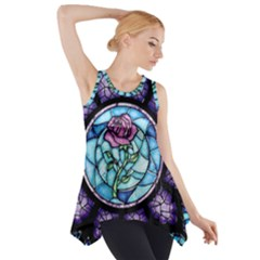 Cathedral Rosette Stained Glass Beauty And The Beast Side Drop Tank Tunic