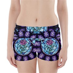 Cathedral Rosette Stained Glass Beauty And The Beast Boyleg Bikini Wrap Bottoms