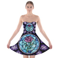 Cathedral Rosette Stained Glass Beauty And The Beast Strapless Bra Top Dress