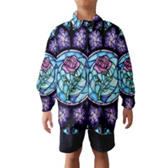 Cathedral Rosette Stained Glass Beauty And The Beast Wind Breaker (Kids)