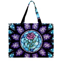 Cathedral Rosette Stained Glass Beauty And The Beast Large Tote Bag