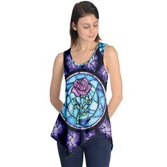 Cathedral Rosette Stained Glass Beauty And The Beast Sleeveless Tunic