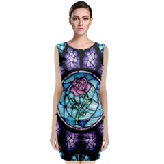 Cathedral Rosette Stained Glass Beauty And The Beast Classic Sleeveless Midi Dress