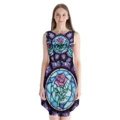 Cathedral Rosette Stained Glass Beauty And The Beast Sleeveless Chiffon Dress