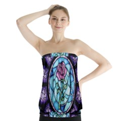 Cathedral Rosette Stained Glass Beauty And The Beast Strapless Top