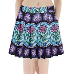 Cathedral Rosette Stained Glass Beauty And The Beast Pleated Mini Skirt