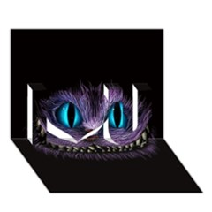 Cheshire Cat Animation I Love You 3d Greeting Card (7x5)