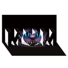 Cheshire Cat Animation Mom 3d Greeting Card (8x4)