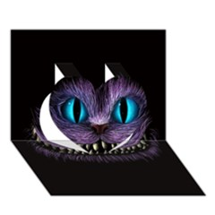 Cheshire Cat Animation Heart 3d Greeting Card (7x5)