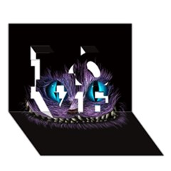Cheshire Cat Animation Love 3d Greeting Card (7x5)
