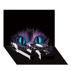 Cheshire Cat Animation Love Bottom 3d Greeting Card (7x5)