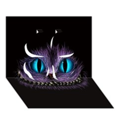 Cheshire Cat Animation Clover 3D Greeting Card (7x5)