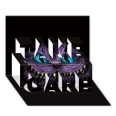Cheshire Cat Animation Take Care 3d Greeting Card (7x5)