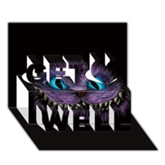 Cheshire Cat Animation Get Well 3d Greeting Card (7x5)