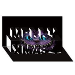 Cheshire Cat Animation Merry Xmas 3d Greeting Card (8x4)