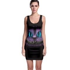 Cheshire Cat Animation Sleeveless Bodycon Dress