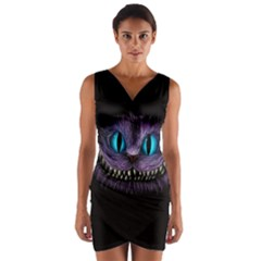 Cheshire Cat Animation Wrap Front Bodycon Dress