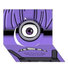 Evil Purple Circle 3d Greeting Card (7x5)