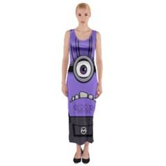 Evil Purple Fitted Maxi Dress