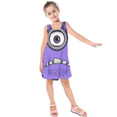 Evil Purple Kids  Sleeveless Dress
