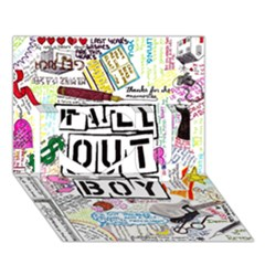 Fall Out Boy Lyric Art I Love You 3d Greeting Card (7x5)