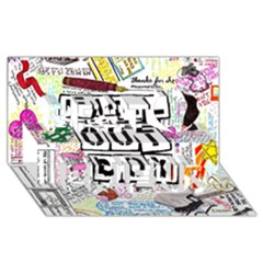 Fall Out Boy Lyric Art Best Friends 3d Greeting Card (8x4)