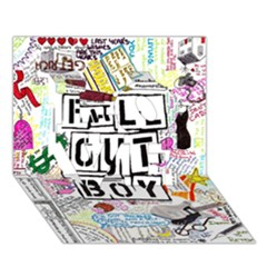 Fall Out Boy Lyric Art LOVE 3D Greeting Card (7x5)