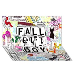 Fall Out Boy Lyric Art Best Bro 3d Greeting Card (8x4)