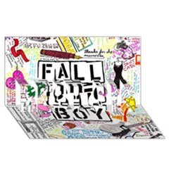 Fall Out Boy Lyric Art Best Sis 3d Greeting Card (8x4)