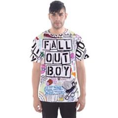 Fall Out Boy Lyric Art Men s Sport Mesh Tee
