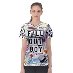 Fall Out Boy Lyric Art Women s Sport Mesh Tee
