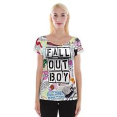 Fall Out Boy Lyric Art Women s Cap Sleeve Top
