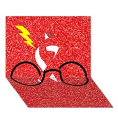 Glasses And Lightning Glitter Ribbon 3d Greeting Card (7x5)
