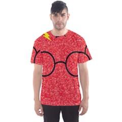 Glasses And Lightning Glitter Men s Sport Mesh Tee