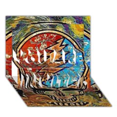 Grateful Dead Rock Band You Are Invited 3d Greeting Card (7x5)