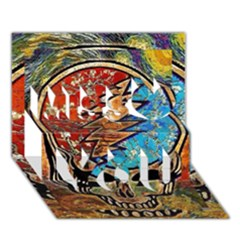 Grateful Dead Rock Band Miss You 3D Greeting Card (7x5)