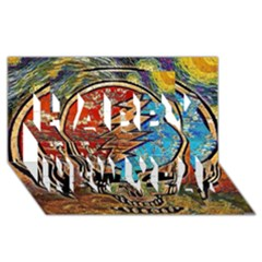 Grateful Dead Rock Band Happy New Year 3d Greeting Card (8x4)