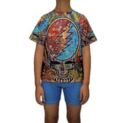 Grateful Dead Rock Band Kids  Short Sleeve Swimwear