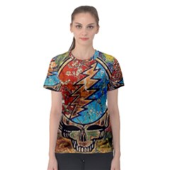 Grateful Dead Rock Band Women s Sport Mesh Tee